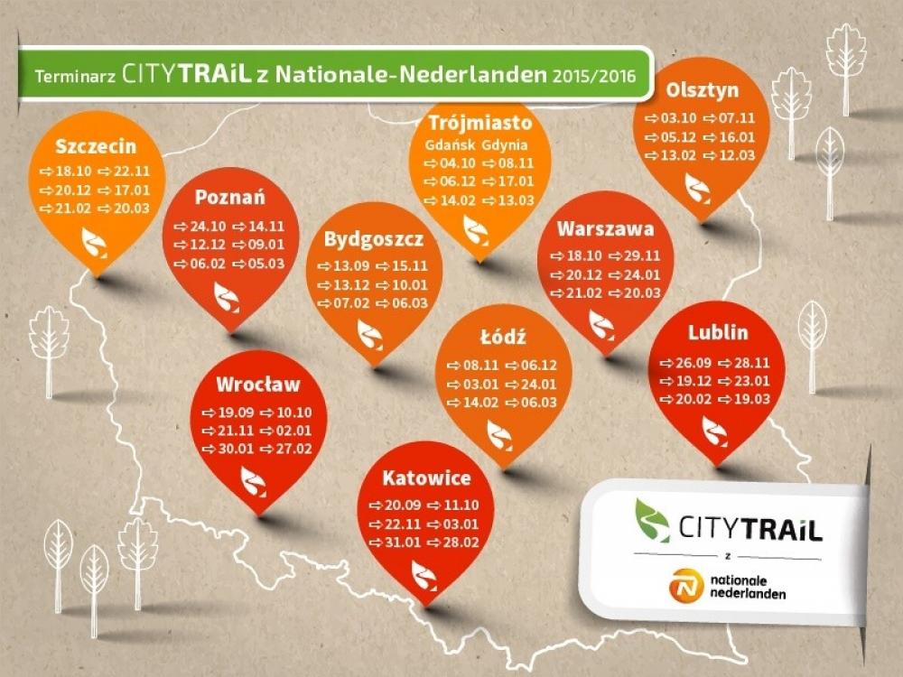 Kalendarz Grand Prix CITY TRAIL 2015/2016